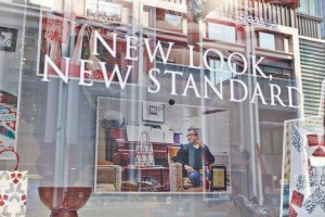 display window, fashion photographer, campaign, advertising