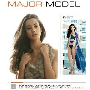 Veronica Montana, Top Model Latina, hair and makeup by Veronika Robova, New York