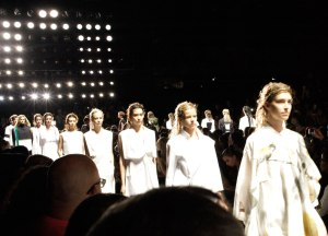 Attending a runway show at New York Fashion Week